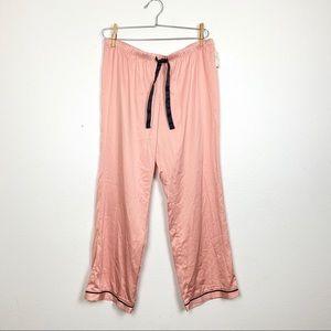NWT New Pink Silky Pajama Pants